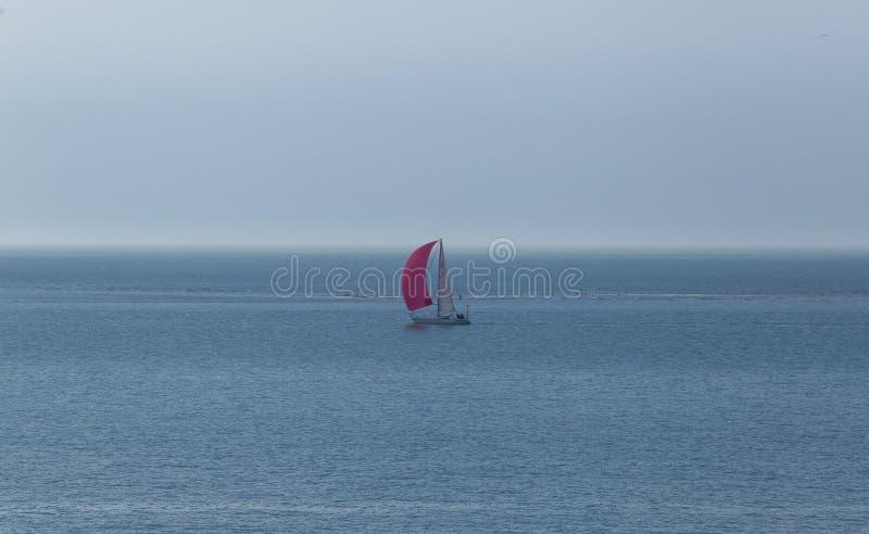 Segelbåt på Northernseaen royaltyfri bild