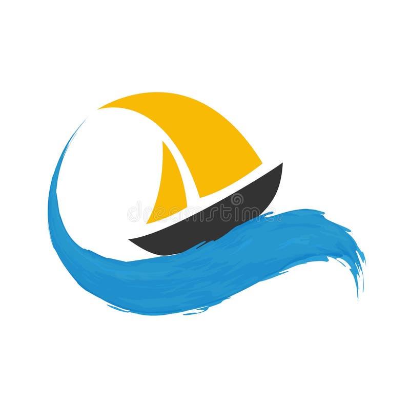 Segelbåt på vattnet royaltyfri illustrationer