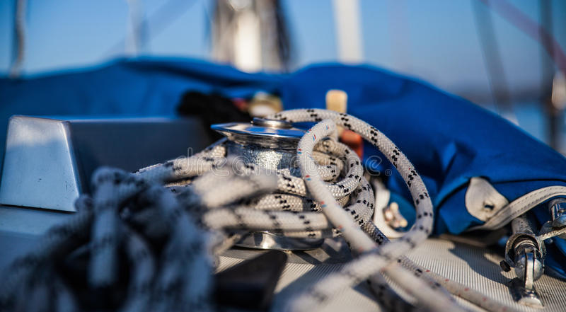 Segelbåtdetalj arkivbilder