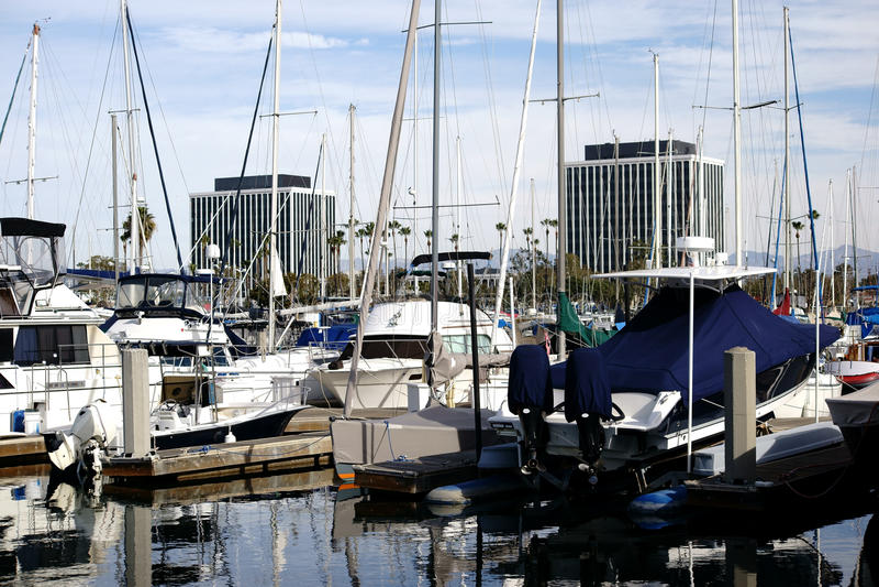 Segelbåthamn Marina del Ray arkivfoton