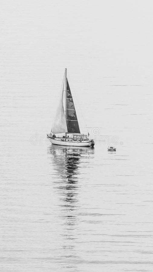 Segelbåtsegling royaltyfria foton