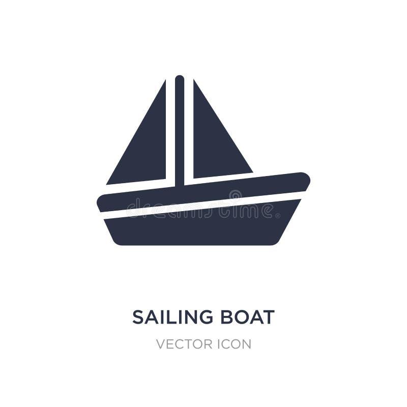 segelbåtsymbol på vit bakgrund Enkel beståndsdelillustration från underhållning och galleribegrepp stock illustrationer