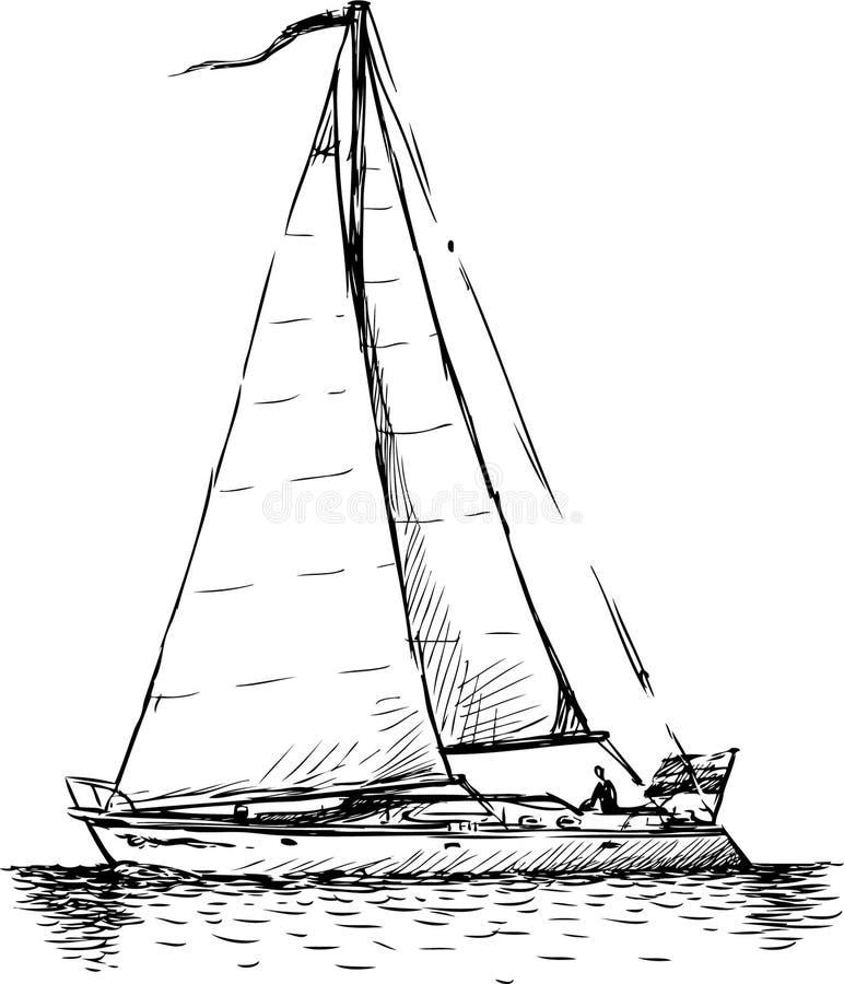Segelboot zeichnung  Segelboot stockfoto. Bild von lebensstil, marine, seite - 30601080
