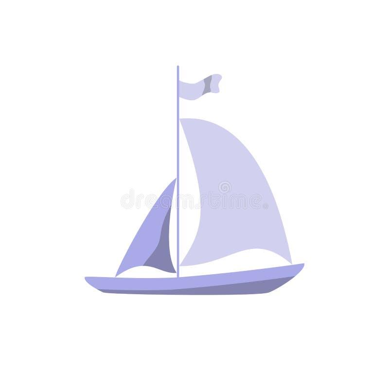 Segelboot auf dunkelblauem Hintergrund lizenzfreie stockbilder