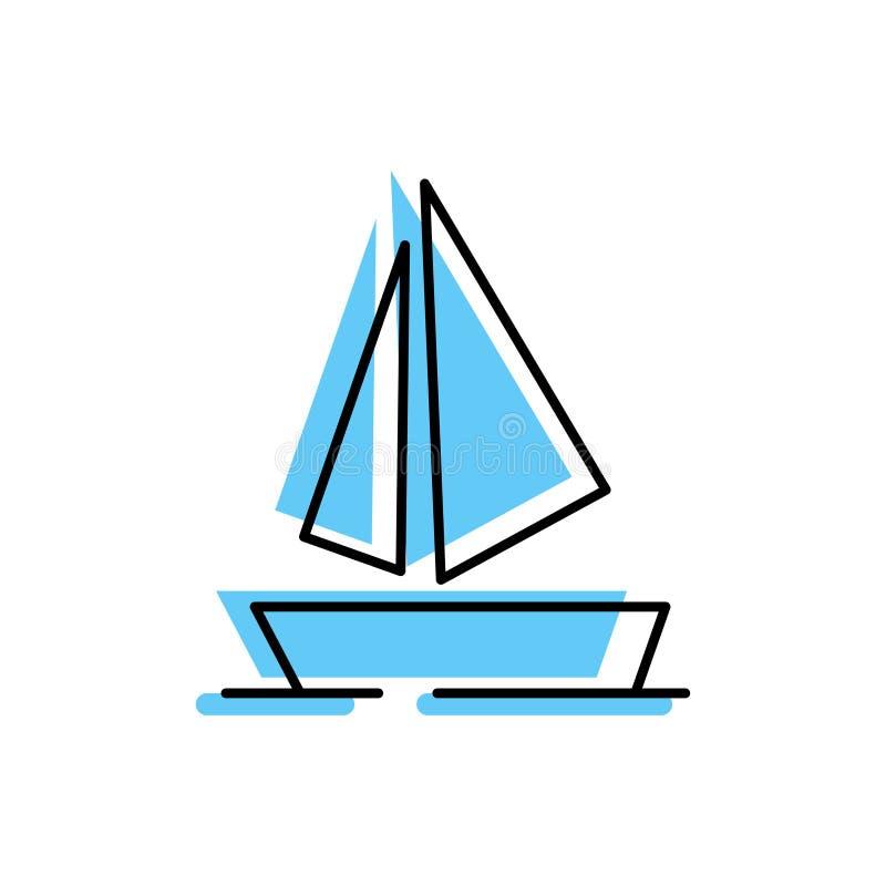 Segelboot-Fülle-Entwurf stockbilder