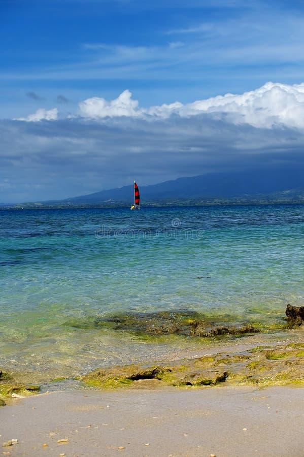 Segelboot Fidschi stockfoto