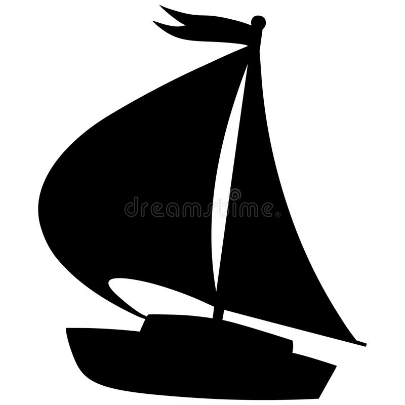 Segelboot-Ikone vektor abbildung