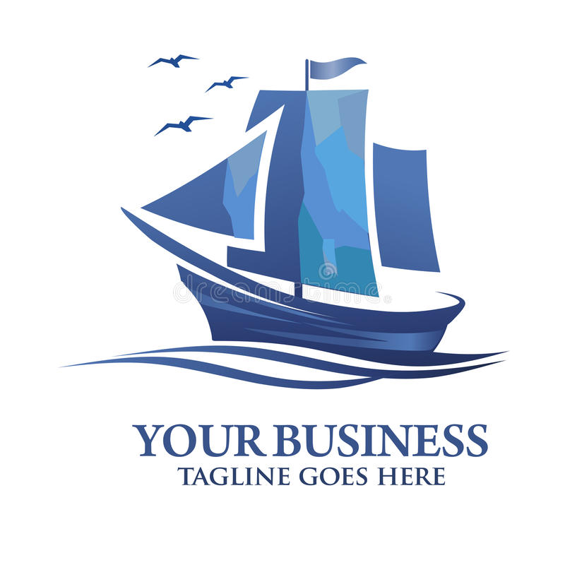 Segelboot Vektor-Logo stock abbildung