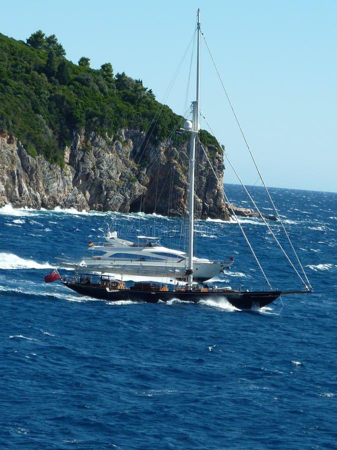 Segelboot-Yacht stockbilder