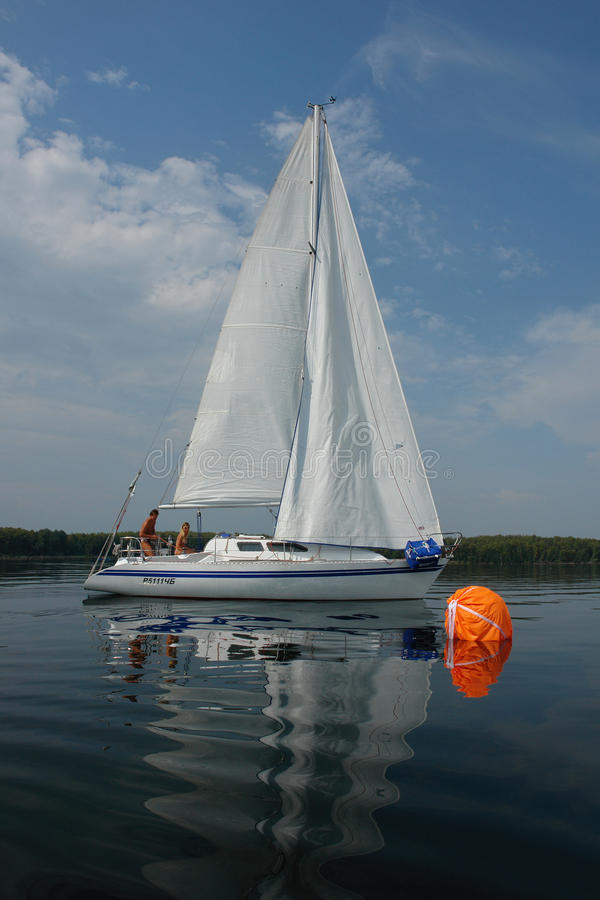 Segelboot-Zwei stockfotografie