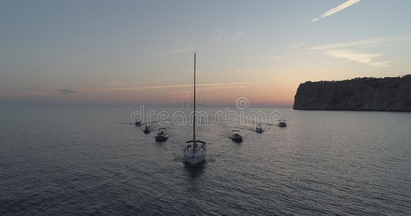 segelboote stockfotografie