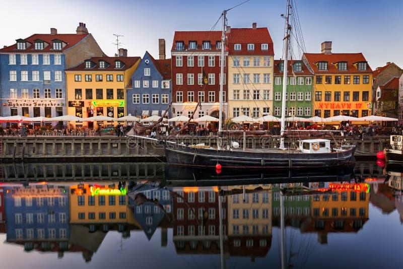 Segelboote in Nyhavn, Kopenhagen lizenzfreies stockbild