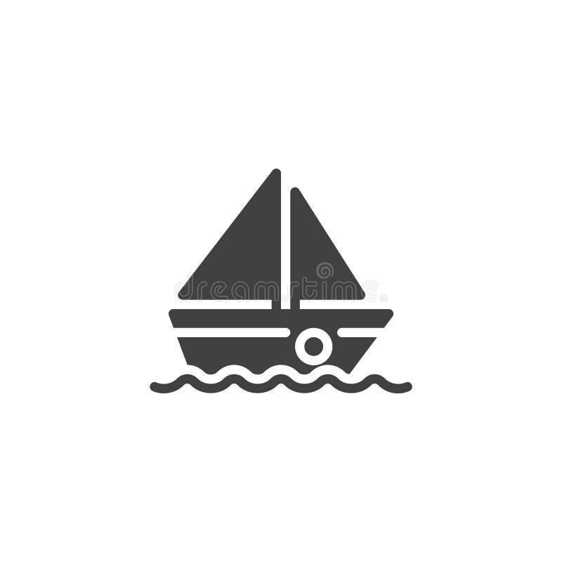 Segelbootvektorikone lizenzfreie abbildung