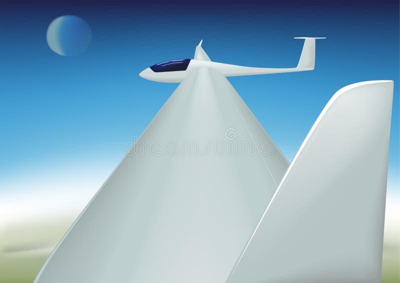 Segelflugzeug ist hochfliegend lizenzfreie abbildung