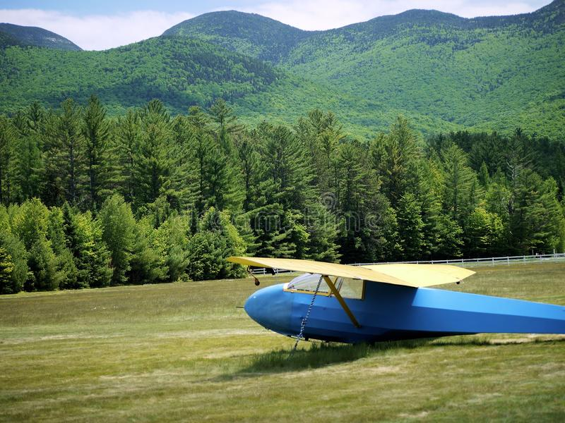 Segelflugzeug in New Hampshire stockfotos
