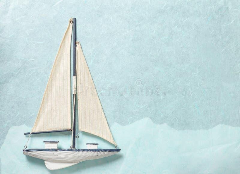 Segeljachtpapierhintergrund stockbild