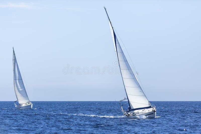 Segeljachtrennen  stockfoto