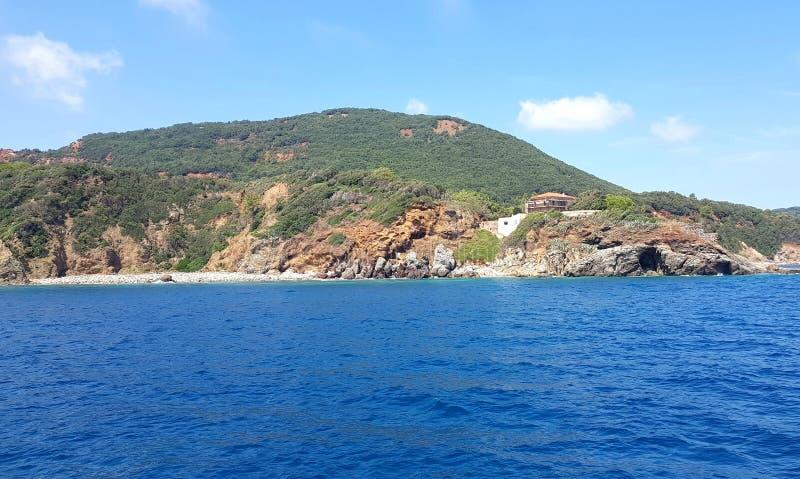 Segeln auf eine Yacht im Mittelmeer auf einer Yacht stockfotos