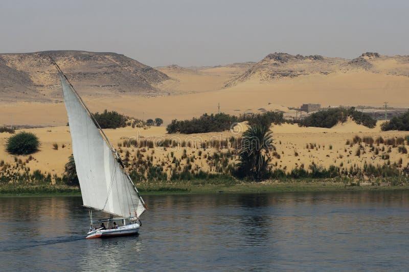 Segeln auf Fluss Nil lizenzfreie stockbilder