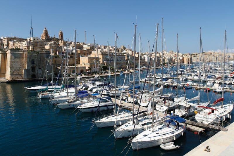 Segeln-Boote in Malta lizenzfreie stockbilder