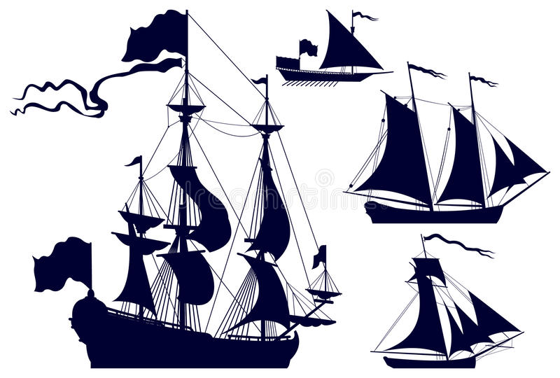 Segeln-Lieferungsschattenbilder lizenzfreie abbildung