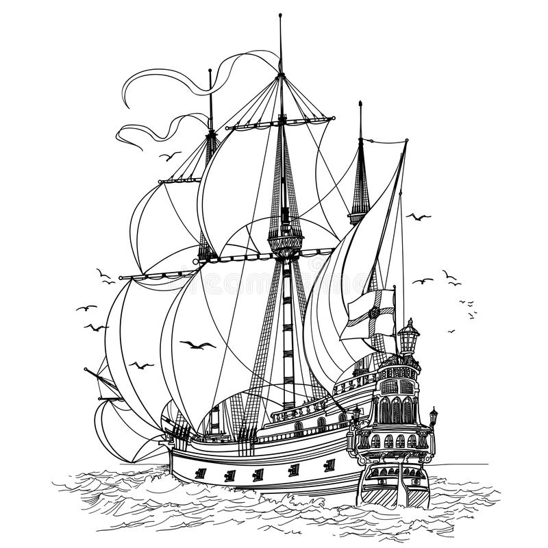 Segelnboot vektor abbildung