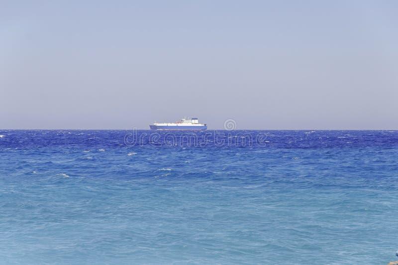 SEGELNtankerfracht-Blauozean des chemischen Transportbootes Offshore lizenzfreies stockfoto