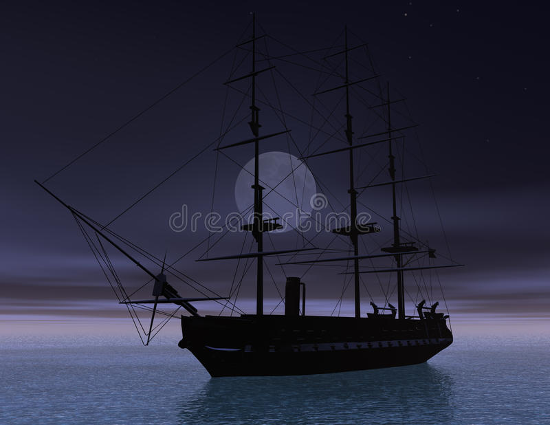 Segelschiff stock abbildung