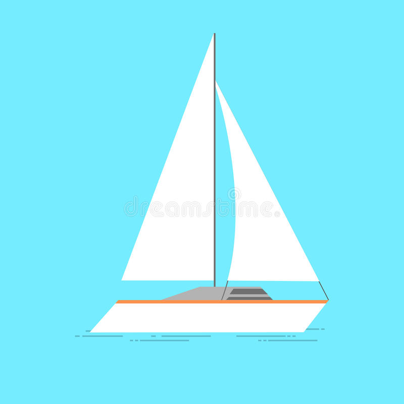 Segelschiffvektorillustration lokalisiert auf transparentem Hintergrund lizenzfreie abbildung