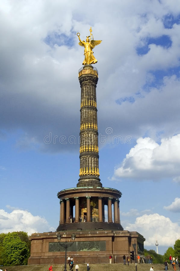 seger för berlin kolonnlandmark arkivfoto