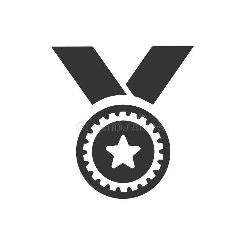 Seger medaljsymbol royaltyfri illustrationer