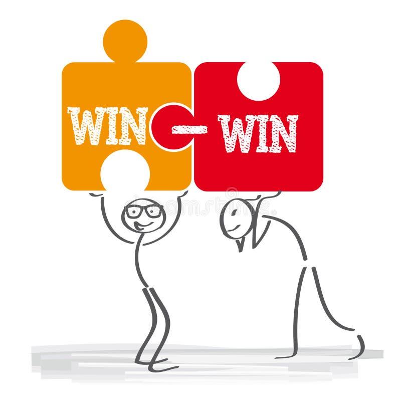 Seger-seger strategi stock illustrationer
