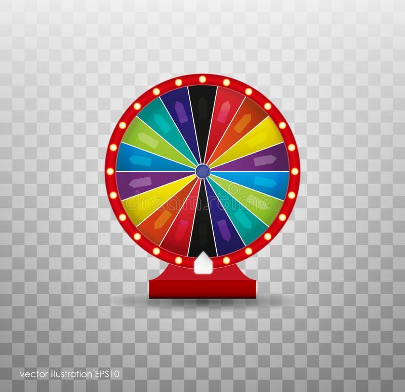 Segerförmögenhetroulett Vågspelmöjlighetsfritid Hjul av illustrationen för förmögenhetlotterilycka royaltyfri illustrationer