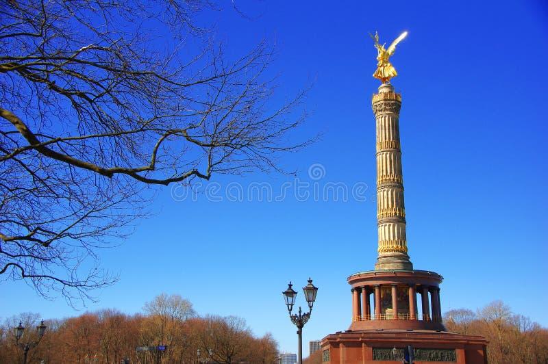 Segerkolonnen Siegessauele i Berlin - Tyskland arkivbild