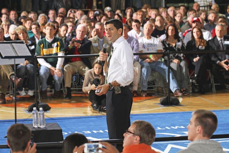 Segerstadshus med Paul Ryan och GOP-laget arkivfoton