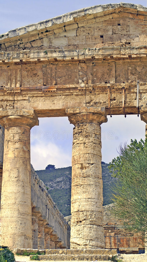 Segesta Greek Temple 4 stock images