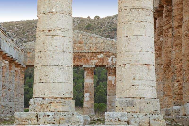 Segesta - Sicilië stock foto