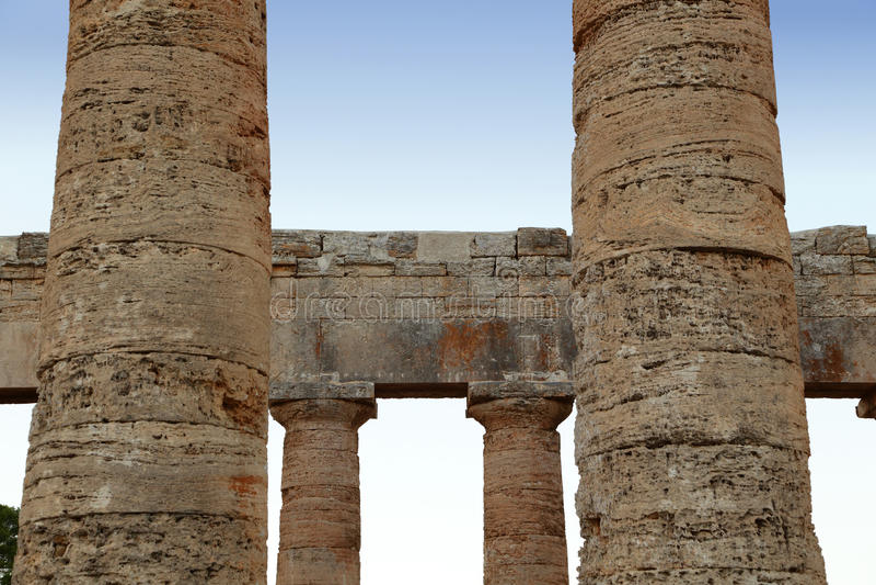 Segesta - Sicilië stock afbeeldingen