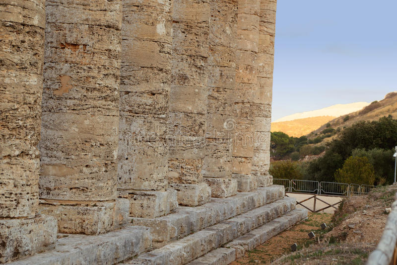 Segesta - Sicilië stock afbeelding