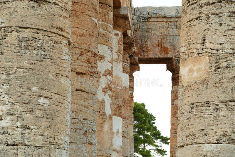 Segesta - Sicilië stock foto's