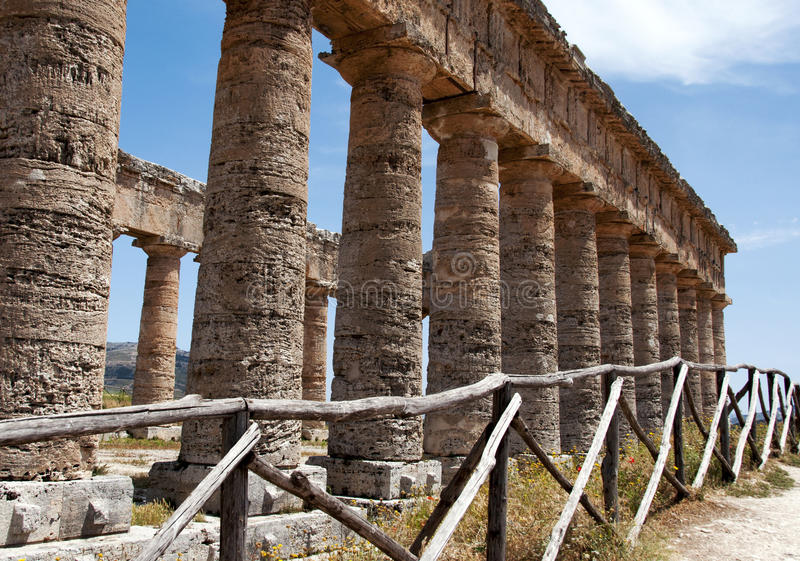Download Segesta  temple stock photo. Image of greek, italian - 26269112