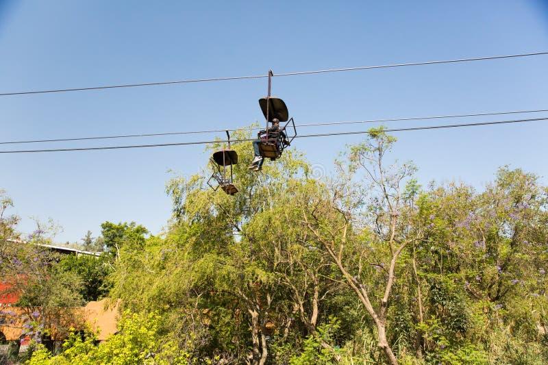 Seggiovia a Zoologico Guadalajara immagini stock libere da diritti