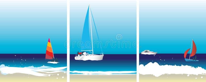 segla för bilder stock illustrationer