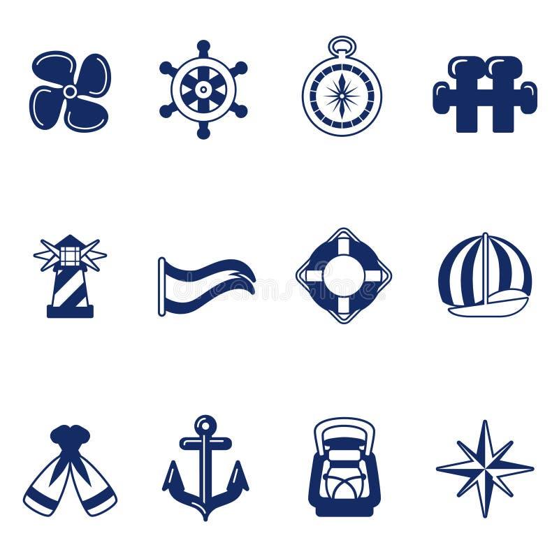 segla för symboler royaltyfri illustrationer
