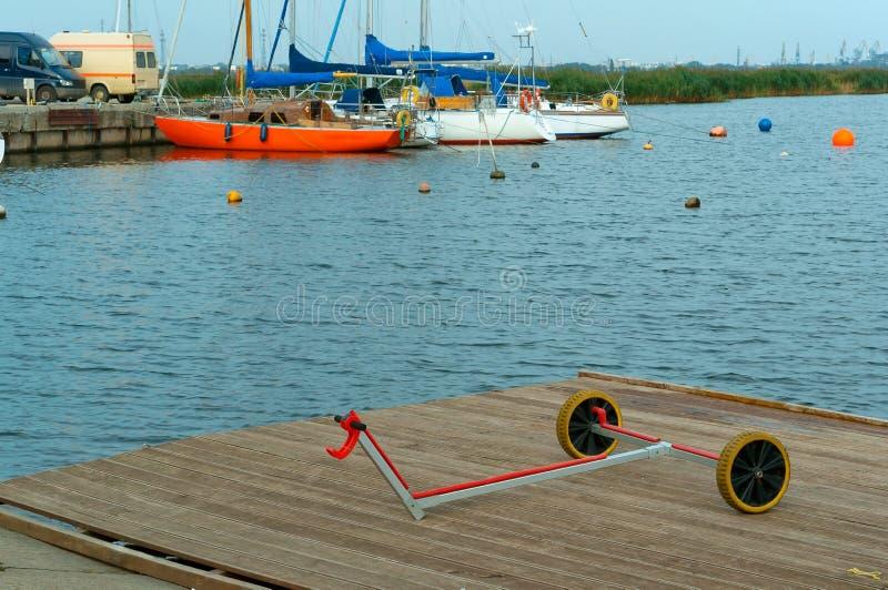 Segla för tillbehör, släp för fartyg och yachter arkivbilder