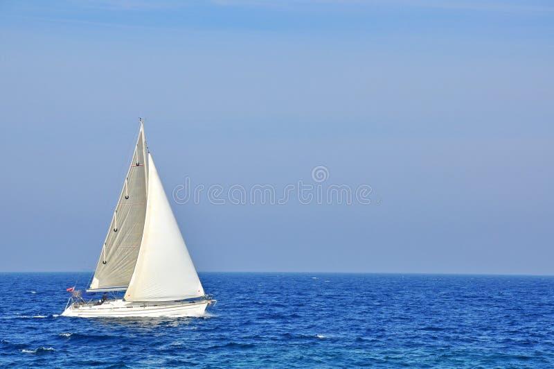 Segla fartyget royaltyfri fotografi