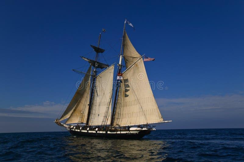 segla full seglinghavet under royaltyfri foto