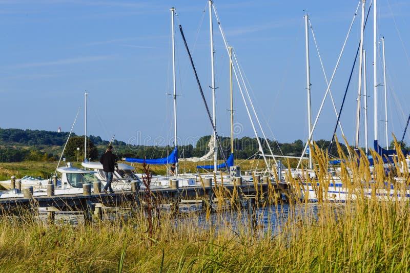 Segla hamnen av Vitte fotografering för bildbyråer