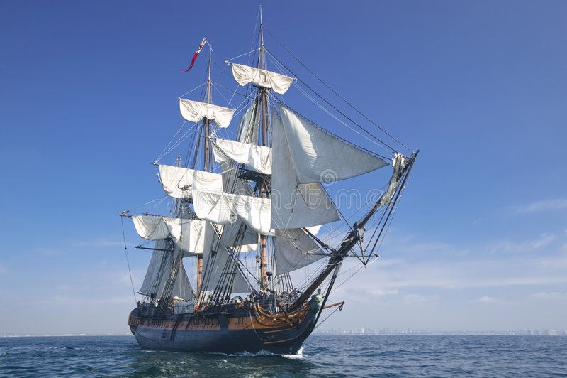 segla ship royaltyfria foton