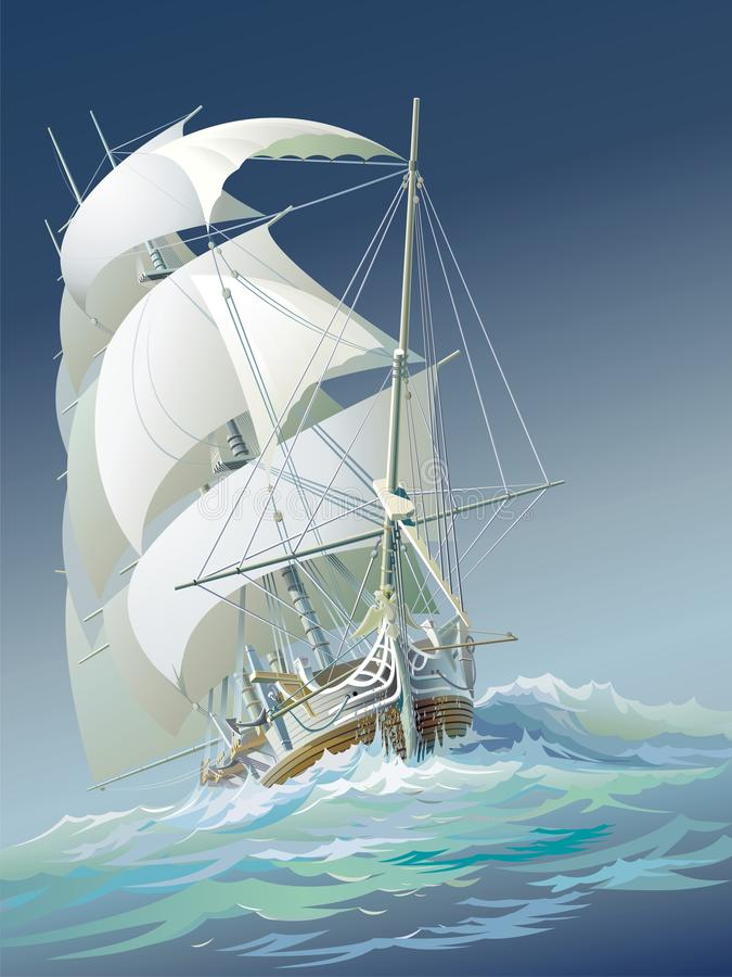 Segla ship stock illustrationer